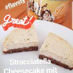 Stracciatella Cheesecake mit Schokoboden Rezept